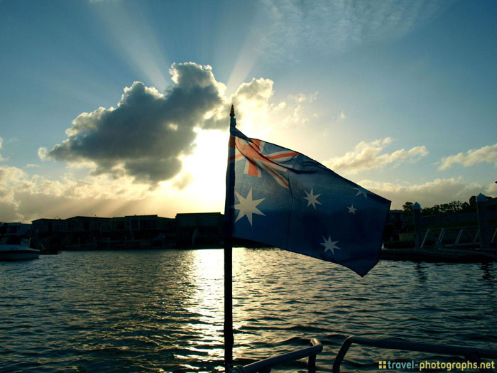 australian flag surfers paradise