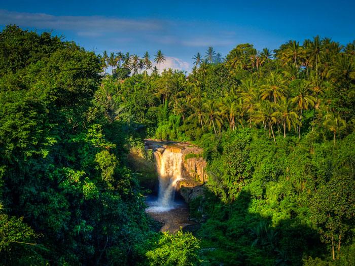 bali waterfall near ubud