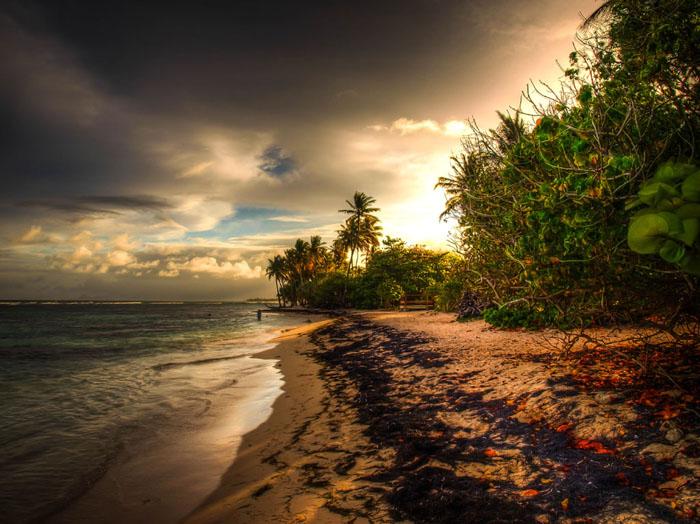 hdr photo beach caribbean