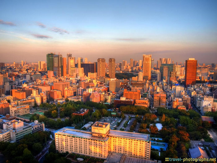 panorama view from tokyo tower