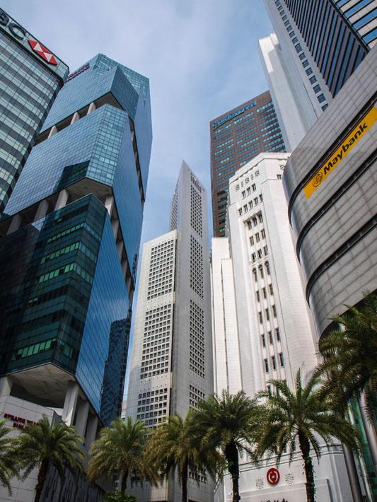 singapore financial district travel tripod
