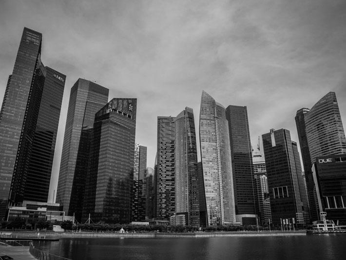 singapore gallery black white