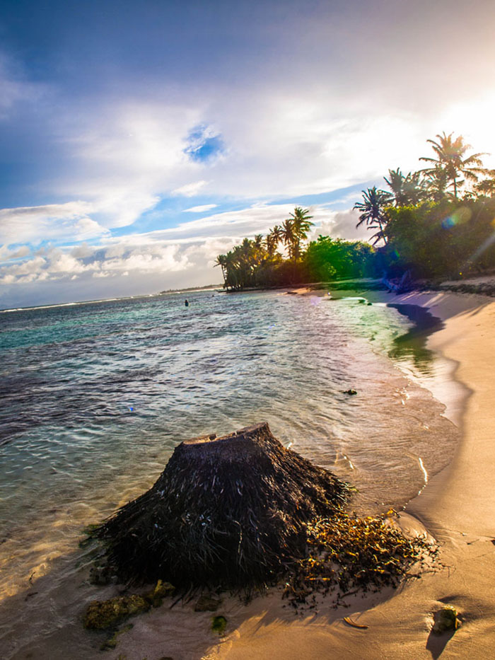 sunset beach guadeloupe