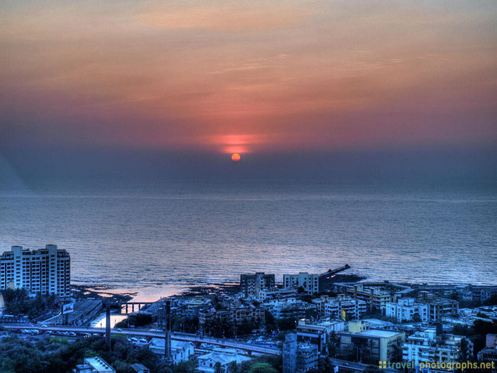 sunset mumbai india