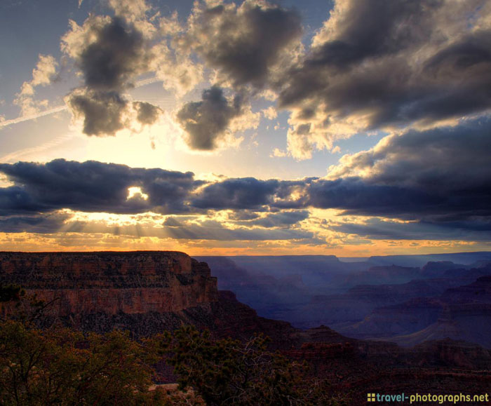 grand canyon beauty cloudy sunset