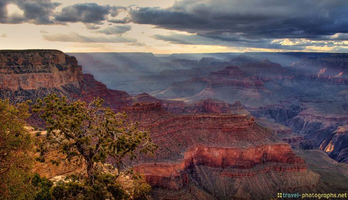 hdr grand canyon dawn