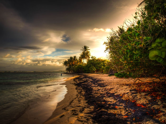 hdr photo beach caribbean
