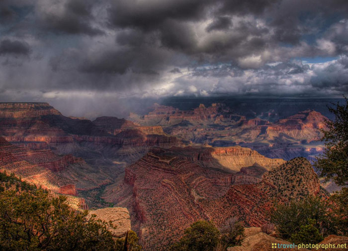 rain at grand canyon