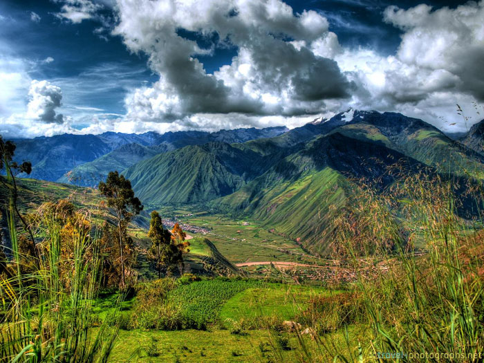 sacred inca valley hdr image