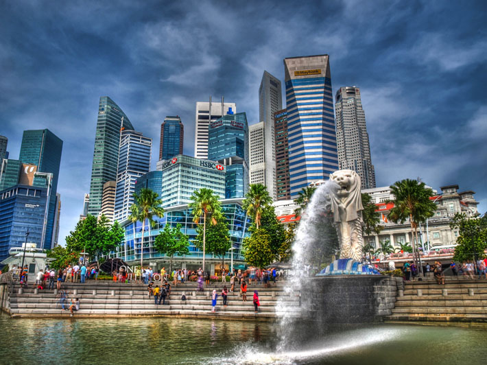 singapore lion hdr photograph