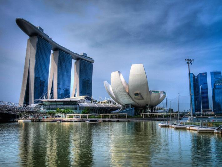 singapore marina hdr image
