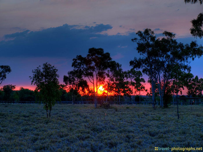 sunset australian outback